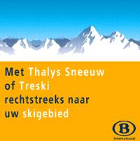 Met de Thalys of Treski van de NMBS naar de wintersport.