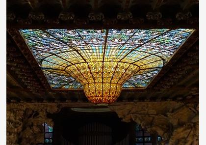 Palau de la Musica, modernisme ten top in Barcelona