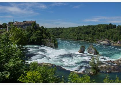 Watervallen Van Schaffhausen Zwitserland.Van Schaffhausen Naar De Bodensee
