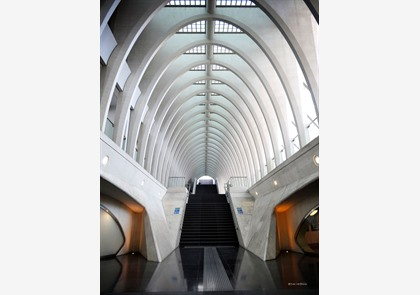 Treinstation Guillemins in Luik